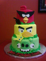Angry Birds Themed Birthday Cake