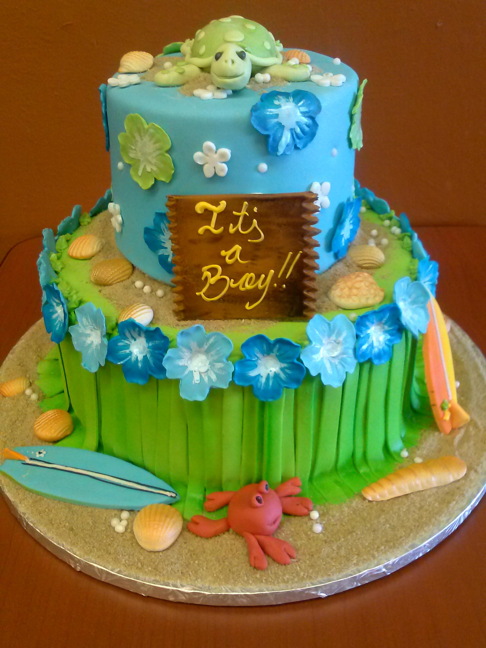 Gallery For Ocean Themed Baby Shower Cake