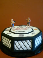 Boxing Themed Birthday Cake