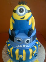 Despicable Me Themed Birthday Cake